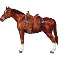 Decoartie paard groot -  Een decoratie van een groot paard! Perfect om als versiering te gebruiken voor een country en western feest. Afmeting: 95cm. | www.feestartikelen.nl
