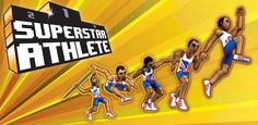 Aim for gold on the track and field in five thrilling athletic events! Rendered in a cool retro style, but with gameplay which is every bit cutting edge. First qualify and then compete in these sporting classics: 110m hurdles, long jump, javelin, shot-put and 200m. Just keep your composure, focus and put all your training and dedication into action. Perfect your technique, compete with the best on the planet and take your place on to the podium and become a Superstar Athlete!