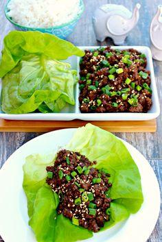 Korean Beef Lettuce Wraps ~ The Complete Savorist @delacemi
