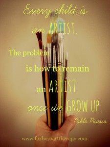 Rimanere un Artista citazione