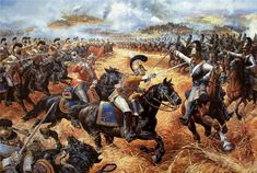 """Cuirassier-on-Cuirassier action at Borodino. Saxons, fighting for Napoleon, vs. Russians. """"I can't tell if the Saxons are meant to be the Zastrow Cuirassiers, or the Garde du Corps, but the Russians are definitely the Astrakhan regiment, by the yellow coats."""""""