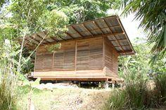 Bamboo House Design, Bungalow House Design, Cabin Office, Bamboo Garden, Tropical Houses, Garden Office, Blinds, Pergola, Outdoor Structures