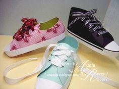 paper sneakers template