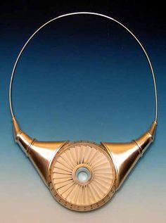 Chris Irick  Necklace: Turbine Necklace 2007  Sterling silver, brass