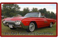 1963 Ford Thunderbird Convertible Refrigerator / Tool Box  Magnet