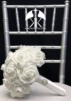 WHITE COMMUNION Bouquet With Glamorous Rhinestone CROSS. Holy COMMUNION Bouquet. White Bouquet. White Communion Bouquet. Pick Rose Aqua Wedding, Bling Wedding, Gray Weddings, Chic Wedding, Luxury Wedding, Flower Ball Centerpiece, Red Centerpieces, Mickey Centerpiece, Crown Centerpiece