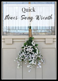 Quick flower swag wreath for spring. Its so great!   http://Twelveonmain.com