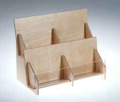 Countertop greeting card display bstcountertops tiered countertop greeting card rack in birch pywood clear m4hsunfo
