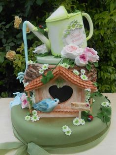 Sweet garden Birthday Cake