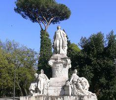 Rome - Statue of Johann Wolfgang von Goethe at Villa Borghese, via Flickr.