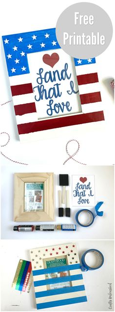 Land That I Love Framed Patriotic Printable