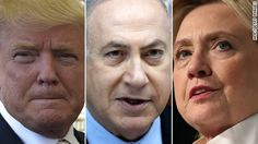 Israeli Prime Minister Benjamin Netanyahu met Hillary Clinton Sunday night at a New York hotel, after conferring earlier in the day with Donald Trump for nearly 90 minutes at Trump Tower.