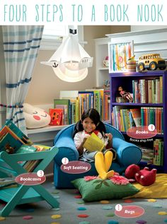 Love the reading nook for playroom