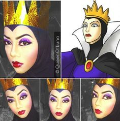 Evil Queen from Disney's Snow White, makeup artist uses hijab