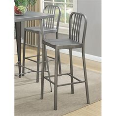Lowest price online on all Coaster Counter Stool in Gunmetal - 105939