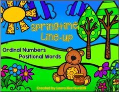 Springtime Line-up offers your children practice reading ordinal numbers and using positional words correctly. This pack includes 3 spring themed print and go sheets, 2 pages of spring critter pictures, and 1 page of task cards. Answer Keys are provided.These activities can be differentiated.