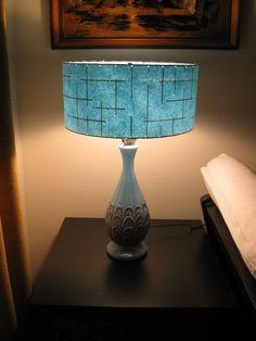 50's style lamps | ... Mid Century Vintage Style Fiberglass Lamp Shade Custom Retro Atomic