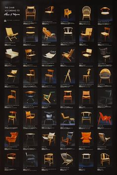 Wegner Chairs Chart :: The Joy of Hans Wegner :: Iconic Mid Century & Danish Modernism | #HansWegner #WegnerChairs #MidCentury #DanishDesign