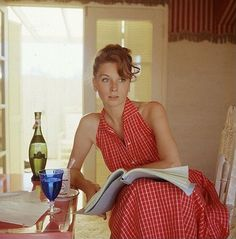 Suzy Parker, photo by Milton Greene, 1957