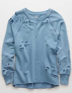 Revamp Clothes, Diy Clothes, Clothes For Women, Diy Sweatshirt, Sweater Shirt, Tee Shirt, Create Your Own Shirt, Ripped Shirts, Mens Outfitters