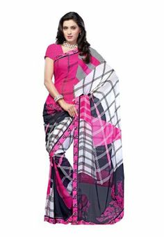 Fabdeal Indian Designer Georgette pink Printed Saree Fabdeal, http://www.amazon.de/dp/B00INWSO4Q/ref=cm_sw_r_pi_dp_7y7otb0MS4JN9