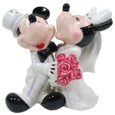 Westland Giftware's Mickey & Minnie's Wedding Magnetic Salt & Pepper Shaker Set features the iconic Disney characters together. Each piece features a magnetic insert which holds the two shakers together. Westland Giftware is a leading manufacturer of quality collectible gift and home decor items.
