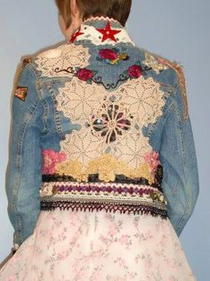 Altered Couture Upcycled Clothing Vintage by UrthGypsyVintage Denim Vintage, Upcycled Vintage, Vintage Gypsy, Altered Couture, Denim And Lace, Diy Fashion, Ideias Fashion, Fashion Goth, Vintage Outfits