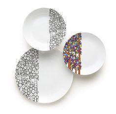 #Piatti #porcellana decorati - #charme by Excelsa