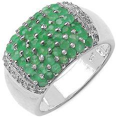 Silvancé - Damen Ring 925 Silber Rhodiniert Smaragd R5012E-19mm Silvancé http://www.amazon.de/dp/B0088W1GXW/ref=cm_sw_r_pi_dp_UiZyvb0DQQDZ0