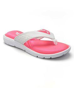 0b391957936a96 FILA White   Hot Pink Amazen Memory Portal Sandal - Women