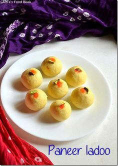Easy paneer laddu/Malai ladoo recipe using 3 main ingredients - Yummy North Indian delicacy for Diwali !