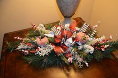 Mantle Swag, Tabletop Swag, Christmas Swag, Winter Swag, Black & White Swag, Fruit Swag, Hearth Swag by TheBloomingWreath on Etsy Christmas Swags, Christmas Decorations, Holiday Decor, Christmas Flower Arrangements, Mantle, Hearth, Tabletop, Black And White, Fruit