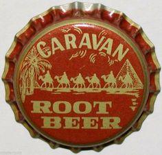 Caravan Root Beer bottle cap | Cheerwine Bottling Co., Salisbury, North Carolina USA