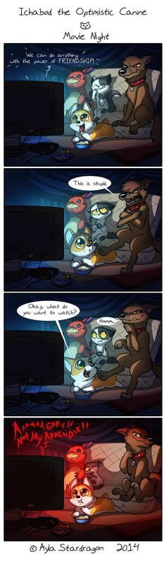 Ichabod the Optimistic Canine :: Movie Night | Tapastic Comics - image 1