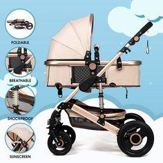Luxury Newborn Baby Stroller Buggy Pram Pushchair Carriage Infant Travel Car