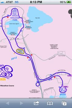 Disney Princess Half-Marathon route! Can't believe I will be running this in 2 months!