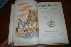 OLD CHILDREN S BOOK BLACK BEAUTY BY ANNA SEWELL GROSSET DUNLOP C 1945 EICHENBERG
