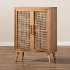 Small Furniture, Colorful Furniture, Cane Furniture, Furniture Refinishing, Rattan Furniture, Oak Cabinets, Accent Cabinets, Wood Storage Cabinets, Baxton Studio