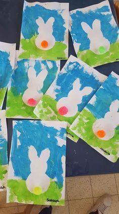 Fun Easter Crafts For Kids K Crafts, Daycare Crafts, Bunny Crafts, Easter Projects, Easter Crafts For Kids, Toddler Crafts, Easter Activities, Spring Activities, Kindergarten Art