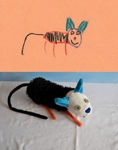 Children's drawings turned into real toys