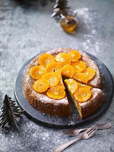 This moist cake is gluten and dairy free and makes a lovely alternative to Chris… - Christmas Cake Recipe Dairy Free Treats, Gluten Free Desserts, Orange And Almond Cake, Orange Cakes, Waitrose Food, Great British Food, Moist Cakes, Almond Cakes, Cake Recipes