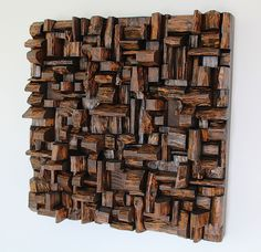 Art of acoustic panel, sound treatment, wood art, sound diffuser, wooden blocks panel, contemporary wood wall art