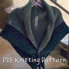 PDF Knitting Pattern Claire's Rent Shawl Outlander-Replica