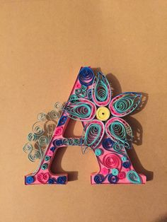Request a custom order monogram letter by QuillingKimStarcher