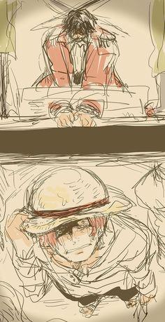 Гол Д. Роджер (Голд Роджер, Золотой Роджер, Король Пиратов), Шанкс. казнь Короля Пиратов.