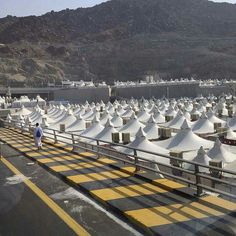 A beautiful view of  mina before the  haj jajs arrive # Mecca
