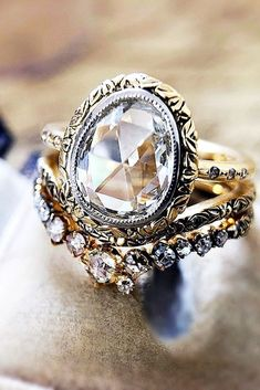 30 Best Diamond Wedding Rings For Real Women ❤️ diamond wedding rings vitage wedding ring cvb inspired design ❤️ See more: http://www.weddingforward.com/diamond-wedding-rings/ #weddingforward #wedding #bride #engagementrings