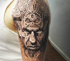 Aztec Warrior tattoo by Arlo Tattoos