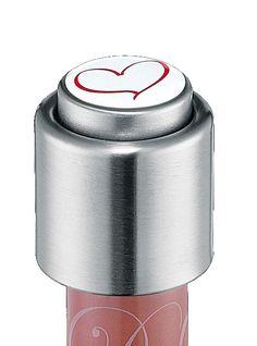 Tappo per bottiglia in acciaio inox Cuore Cilio, chiusura a scatto e un pulsante per chiudere in acciaio inox, immagine in resina epossidica di alta qualità con rivestimento lucido (molto resistente)