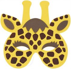 Giraffe Safari Animal Soft Foam Mask for Kids Animal Masks For Kids, Mask For Kids, Safari Crafts, Animal Face Mask, Felt Mask, Safari Party, Jungle Animals, Animal Crafts, Halloween Night
